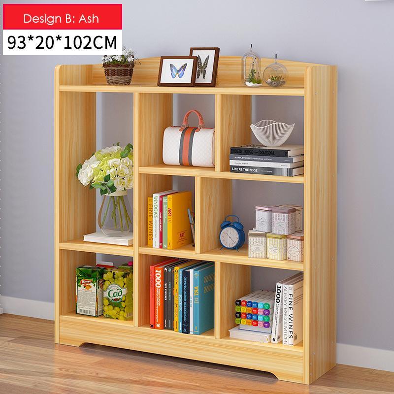 Multi-Purpose Wooden Book Shelf - Design B (Ash)
