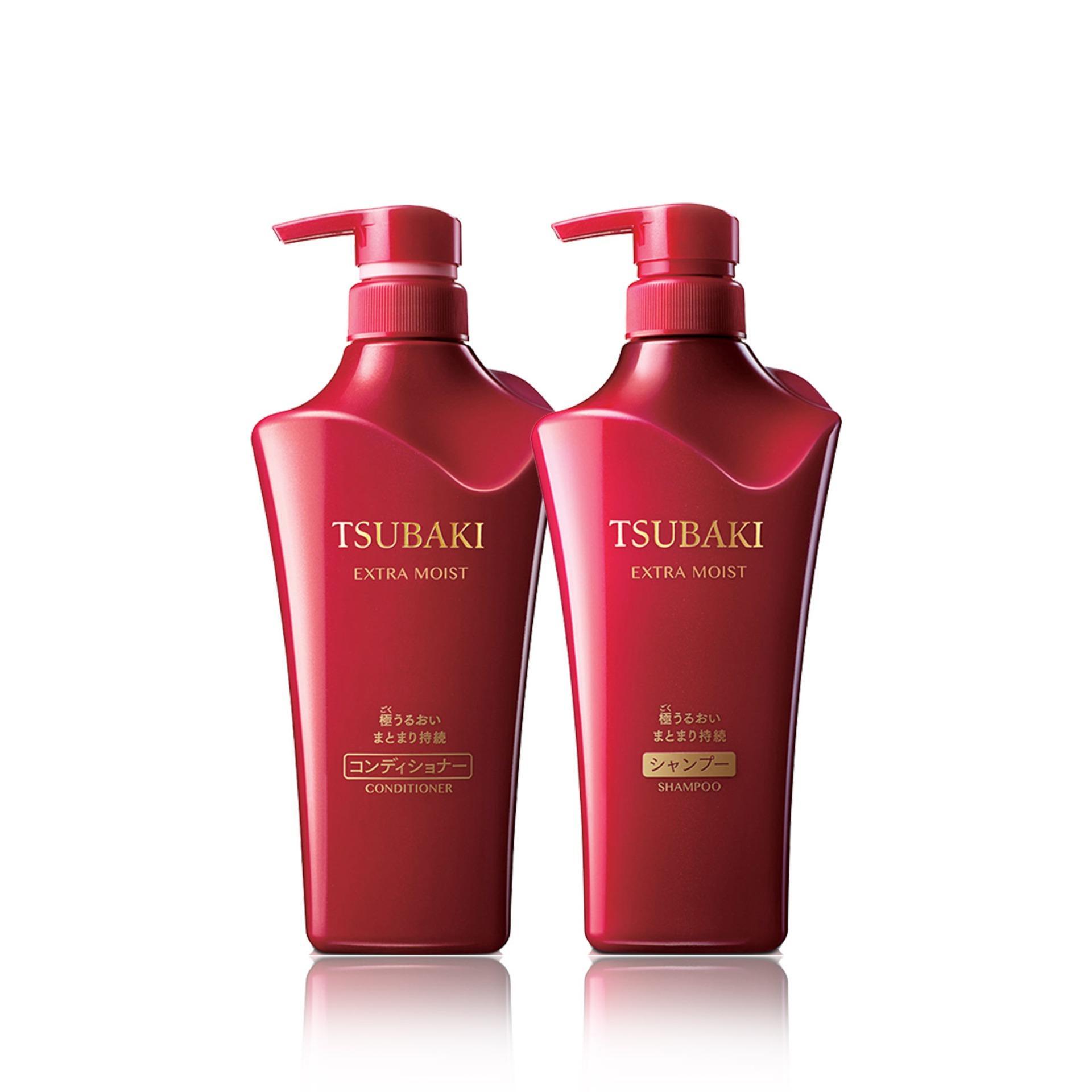 Tsubaki Extra Moist Shampoo + Conditioner 500ml