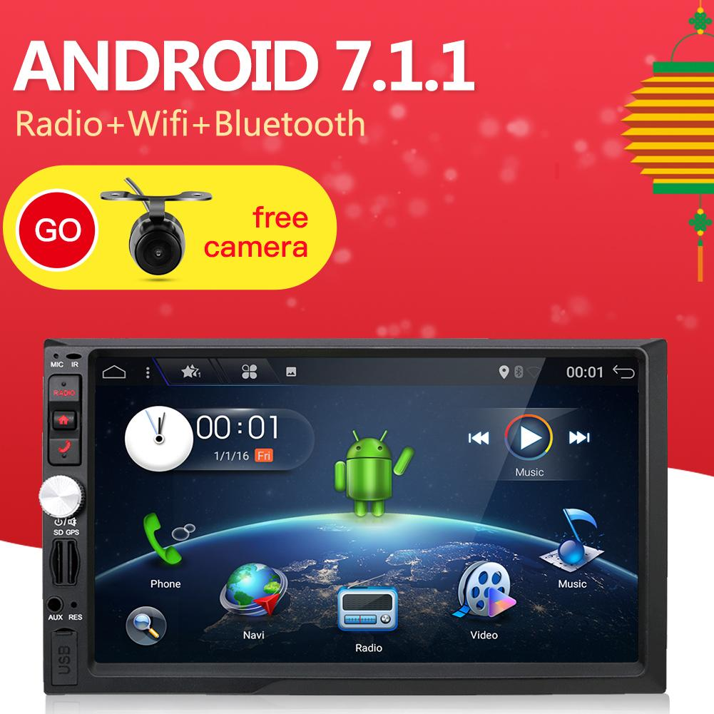 Android 7 1 1 Car Multimedia Player Quad 4 Core 7 Touchscreen 1024 600 Double 2Din 3G Wifi Car Audio 2 Din Car Stereo Auto Sd Usb Fm Radio Intl Best Price