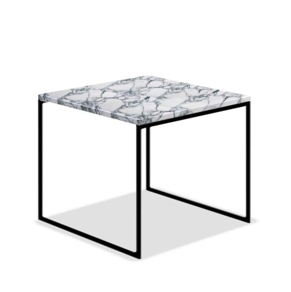 Camille Marble Table With High Quality Colored Steel Legs (Black, Gold, Silver)