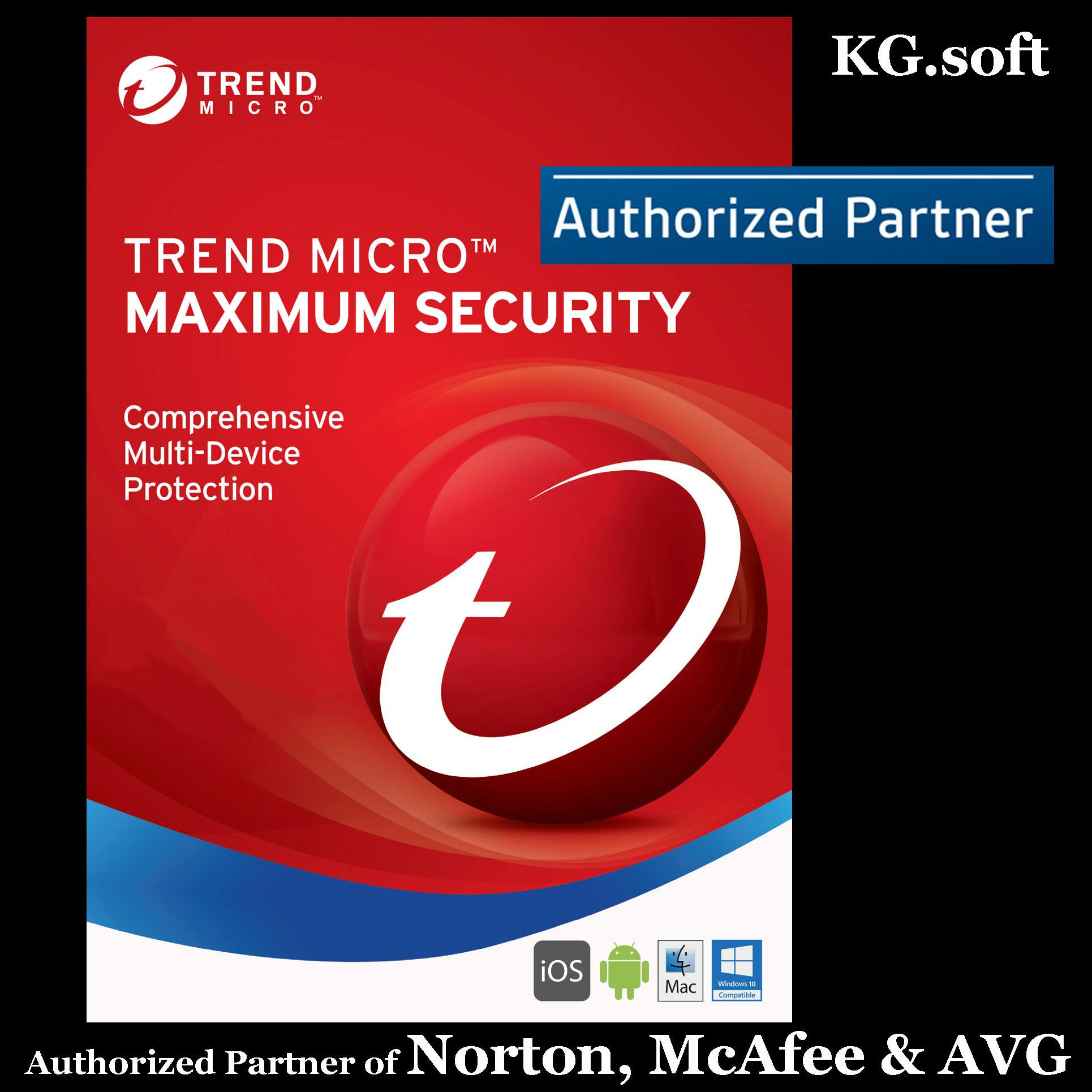 [3-device 3-year] Trend Micro Maximum Security 2019 for 3 devices 3 years  (Award Winning Antivirus, Antispyware and Ransomware Protection, prevents
