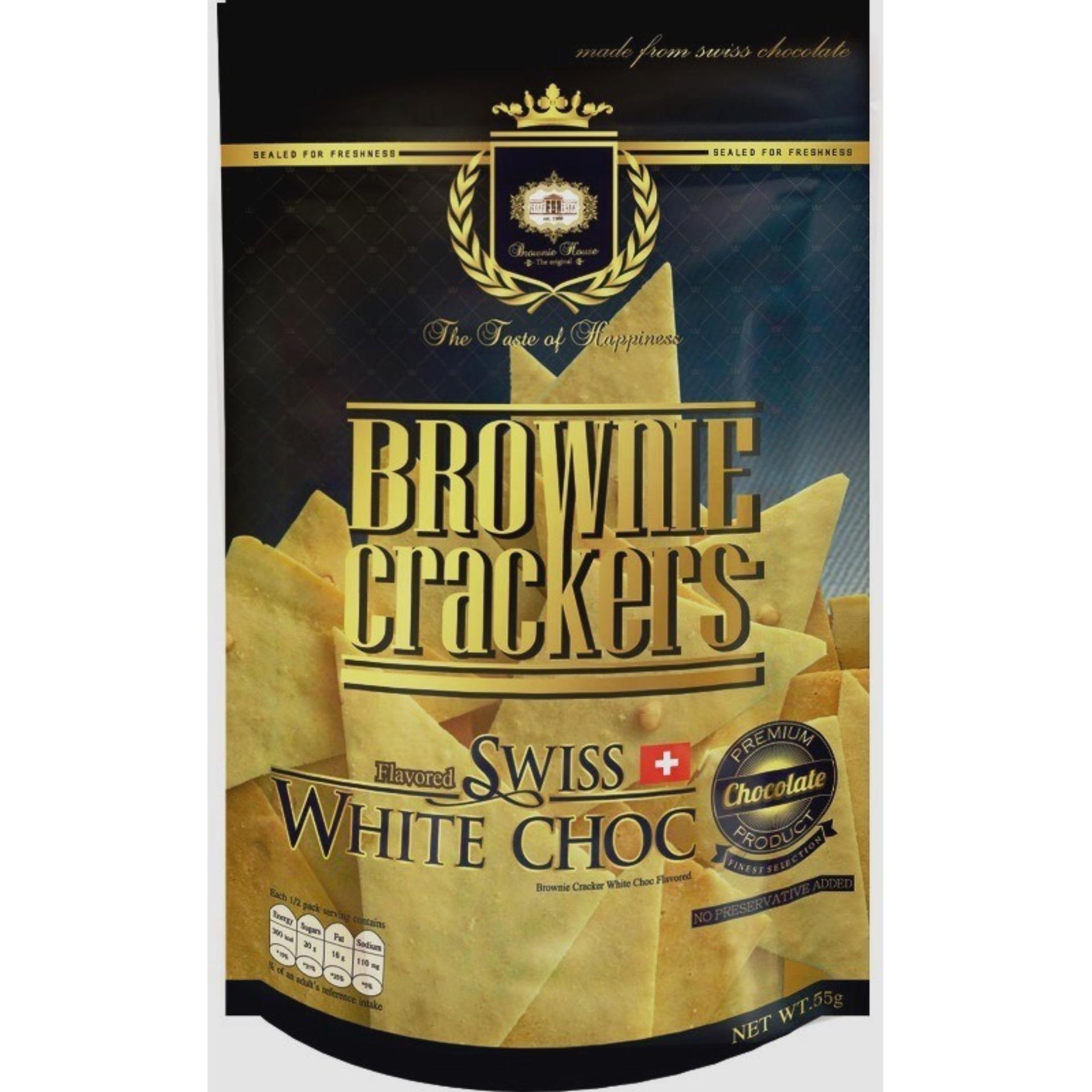 Brownie Crackers 55g X 5packs Bundle (swiss White Chocolate) - Brownie House The Original By Nomlah Trading.