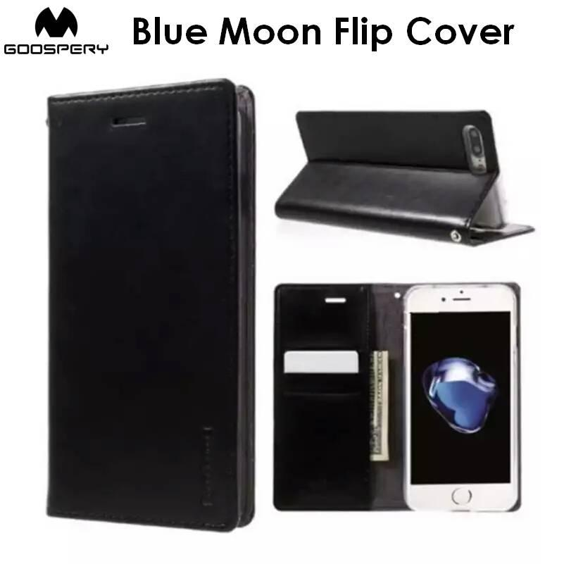 Goospery Blue Moon Flip Cover Case Cases Casing Card Slot Holder For Samsung Galaxy Note 5