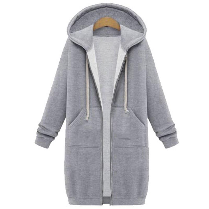 Zanzea Winter Coats Jacket Women Long Hooded Sweatshirts Coat Casual Zipper Outerwear Hoodies Plus Size By Zanzea Official Store.