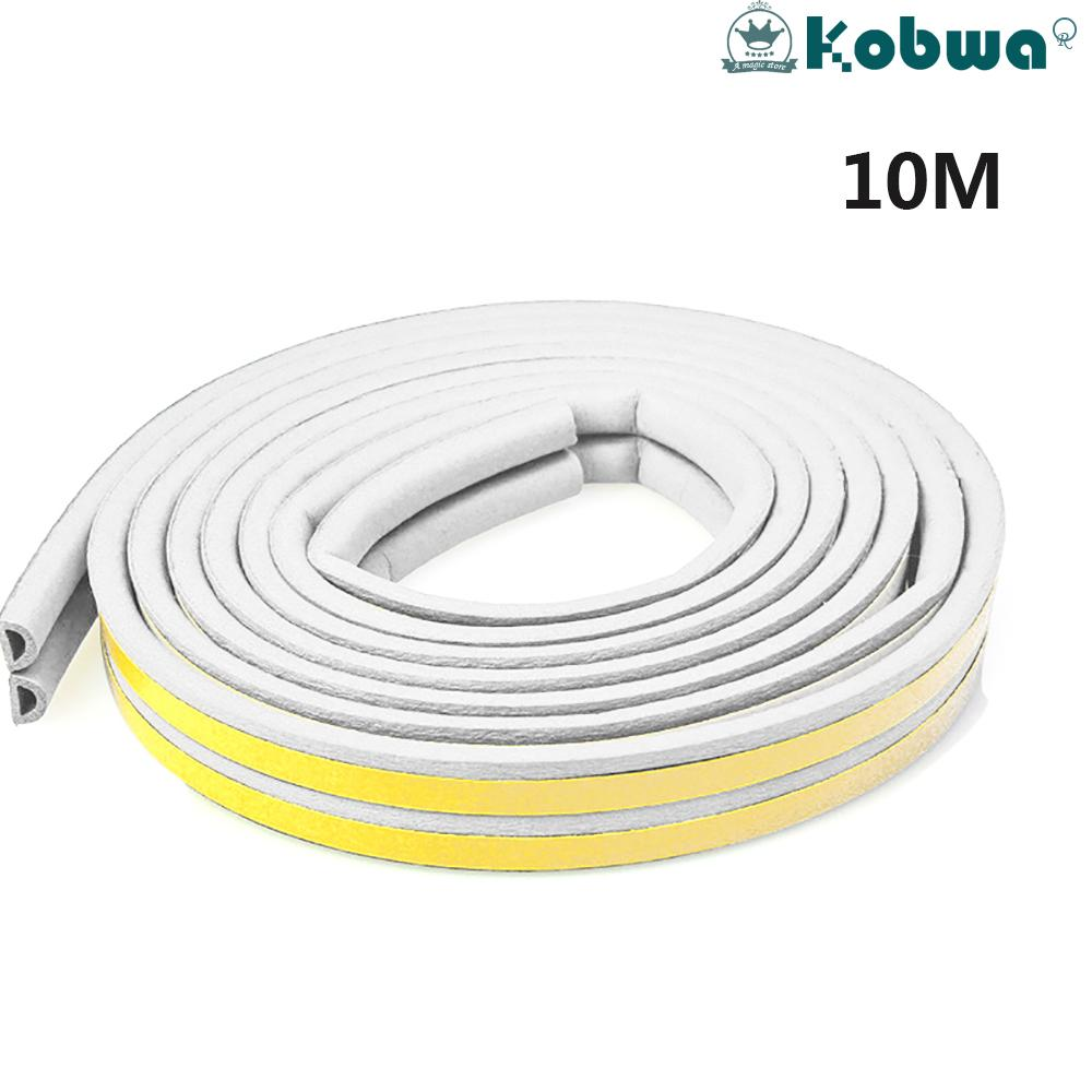 Kobwa 10 M Weatherstrip Doors Windows Seal Strip Soundproof Dustproof And Pest Control Self-Adhesive Epdm Tape Weather Stripping For Home Office Various Type By Kobwa Direct.