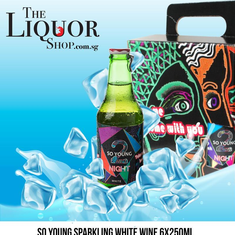 So Young Sparkling White Wine 6x250ml By The Liquor Shop.