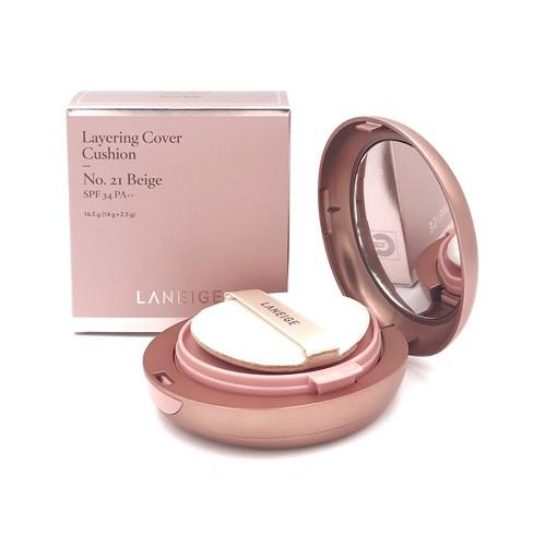 Laneige Layering Cover Cushion Shade 21 Beige 14g + 2.5g