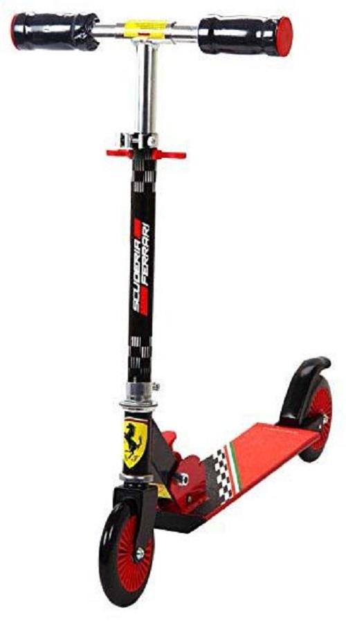 Official Licensed Product Ferrari 120mm Kick Scooter (black) By Trends Sporting.