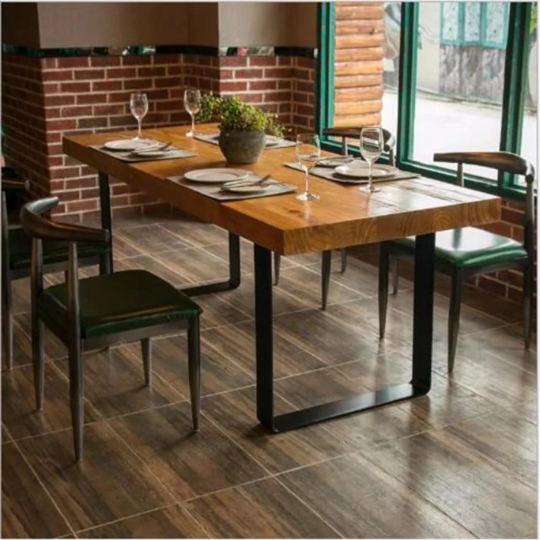 TSDT00C Retro/Loft Solid Wood Dining Table (L160XW80XH75cm) TSDT