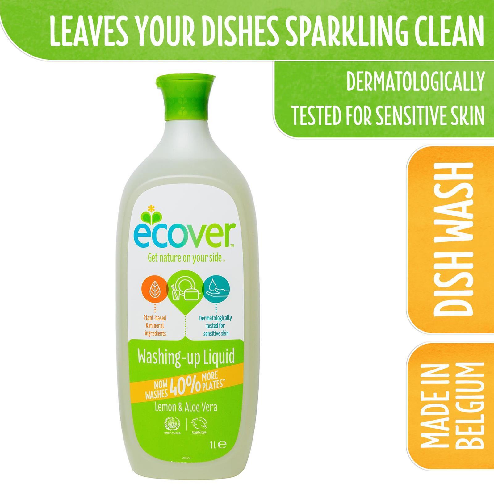 Ecover Washing-up Liquid - LemonAloe Vera 1L