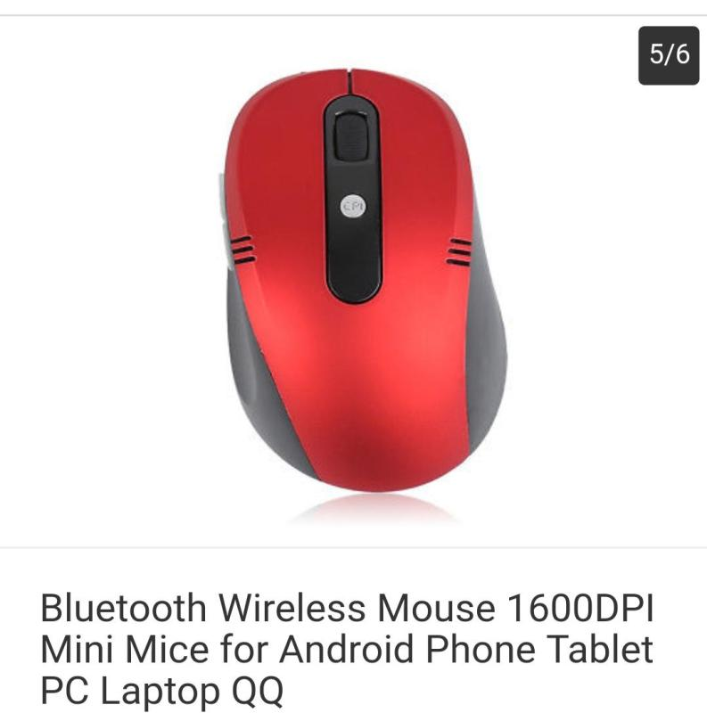dell Bluetooth Wireless Mouse 1600DPI Mini Mice for Android Phone Tablet PC Laptop QQ