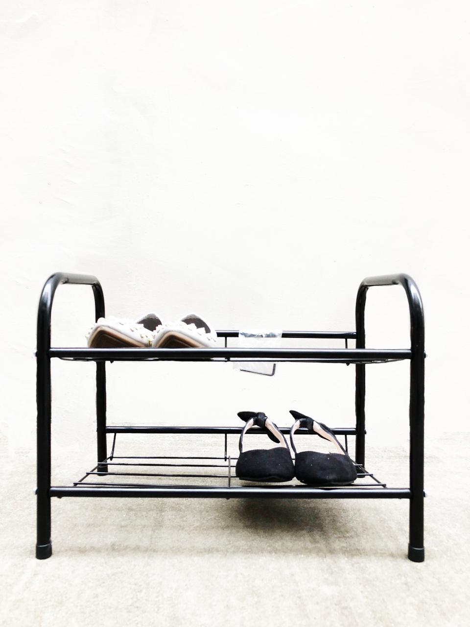 2 Tier Shoe Rack MJ-2417A (Black)