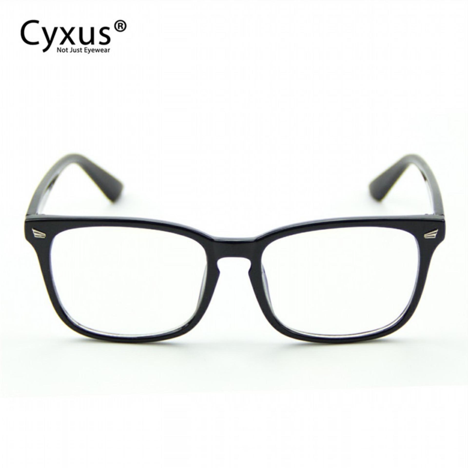 18c2cc7d2ef9 Cyxus Classic Black Frame Optical Glasses Men Women Eyewear