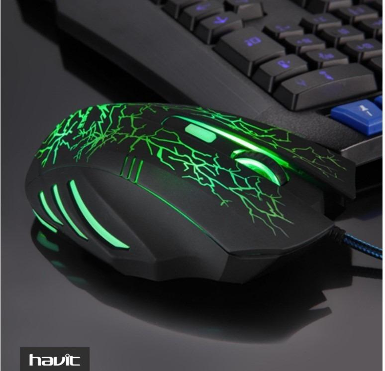 Havit HV-MS672 Wired Gaming Mouse Professional USB 7 LED Backlight Computer PC Gamer Laptop