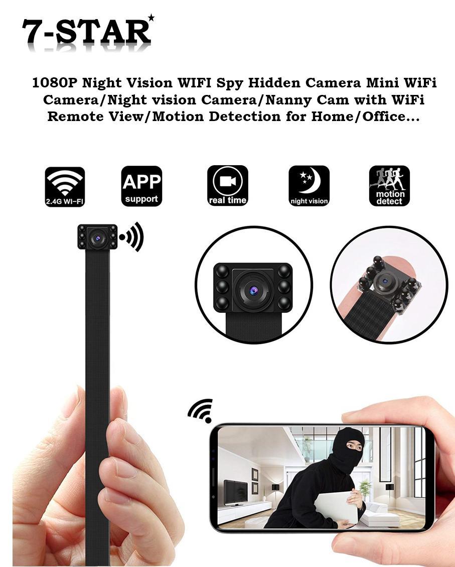 TRUE 4K Invisible Night Vision IR WIFI Spy Hidden Camera, Mini Wireless  WiFi Camera/Hidden Night vision Camera/Nanny Cam with WiFi Remote  View/Motion