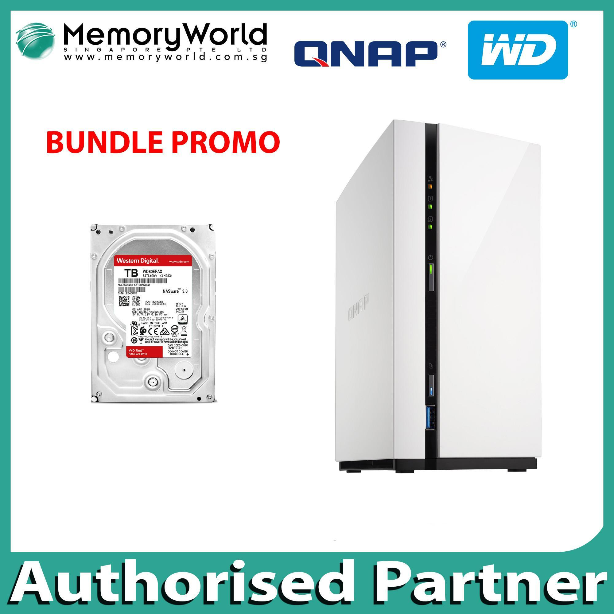 Buy Qnap Computers Online Laptops Nas Tvs 871 I3 4g Bundle Ts 228a With 1 X Wd Red 2tb Drive