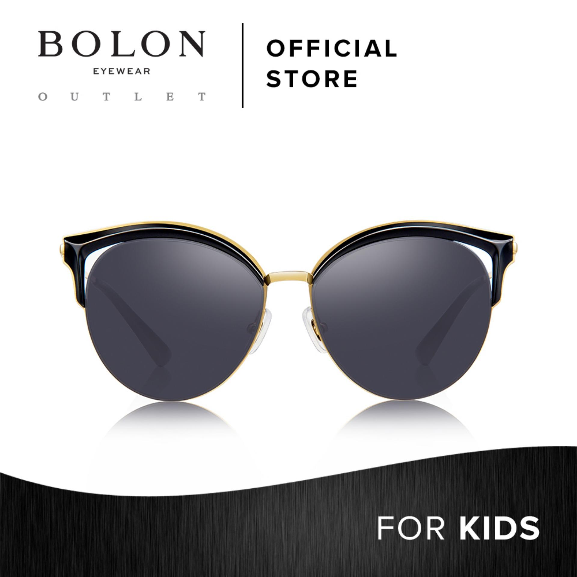 3ee24a1211 BOLON Eyewear Kids Cat Eye Sunglasses Petit Anne BK6006 Black Gold
