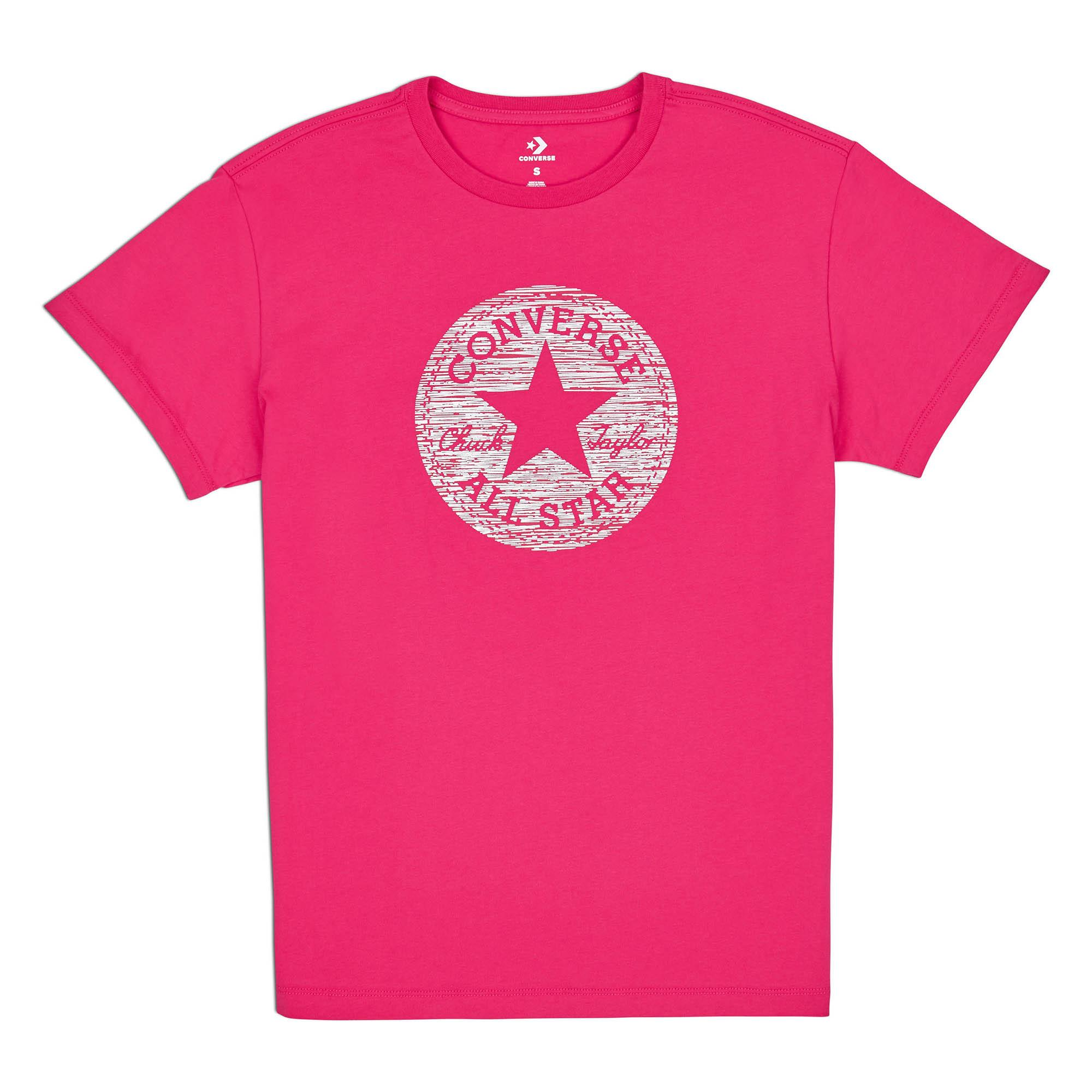 bd65900b4ccf  SALE  CONVERSE PRECIOUS METAL CHUCK PATCH EASY CREW TEE - PINK POP -  10007057
