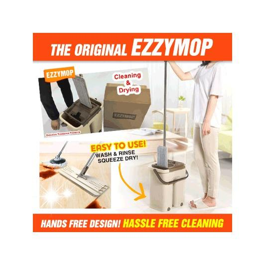 The Original Ezzy Mop Magic Cleaning Mop Microfiber Easy Mop Wonder Cleaning Mop For Sale Online
