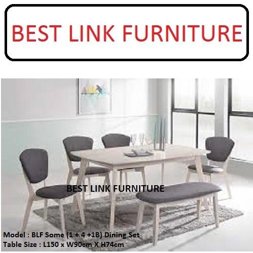 BEST LINK FURNITURE BLF Some (1 + 4 +1B) Dining Table Set