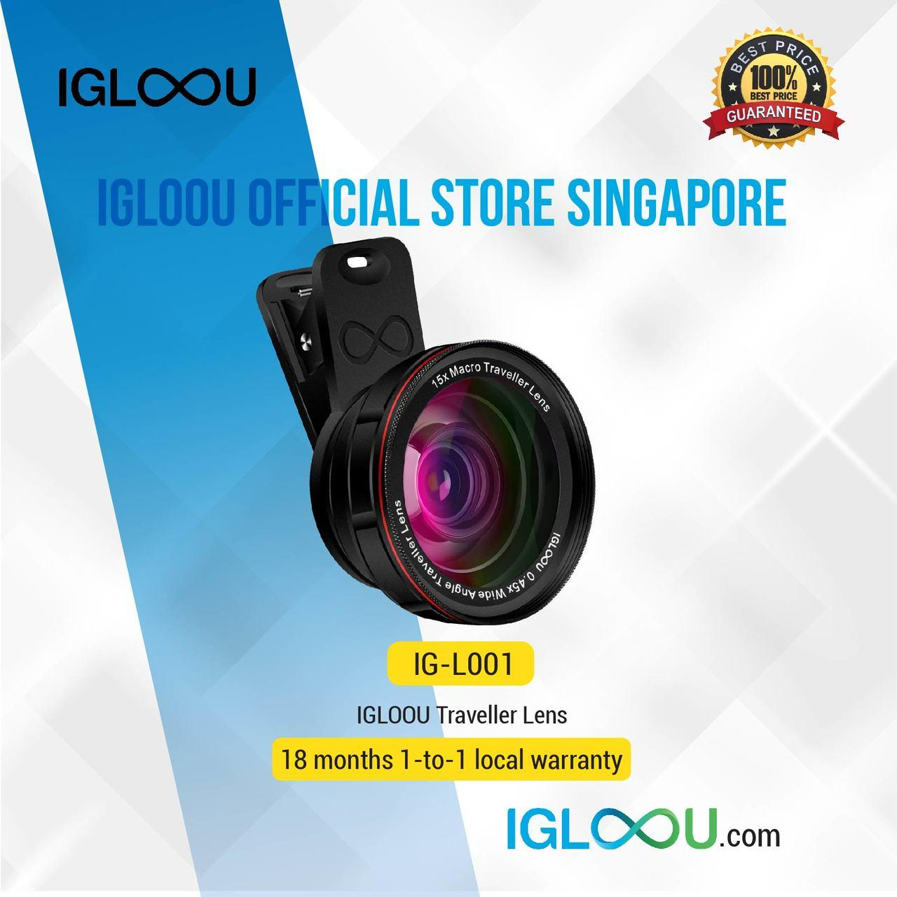 Igloou 2-In-1 Traveller Lens, 0.45x Wide Angle And 15x Macro Traveller Lens For Iphone X, Huawei P20 Pro, And All Type Of Mobile Devices By Igloou Store.