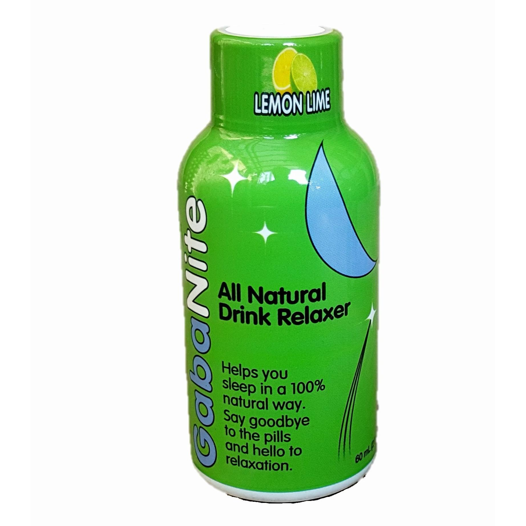 Brand New Gabanite Sleep Aid Supplement Lemon Lime 60Ml X 12 Bottles