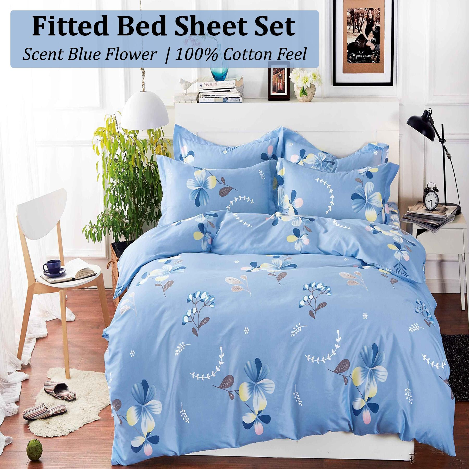 Fitted Bed Sheet Set Brushed Microfiber, Breathable, Extra Soft And  Comfortable   Wrinkle,