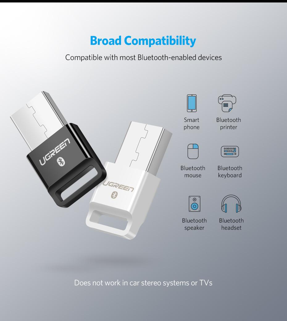 UGREEN Wireless USB Bluetooth Adapter for PC Bluetooth 4 0 Dongle Audio  Receiver Bluetooth Transmitter for 10/8/XP/Vista/XBOX ONE S Handle-Intl