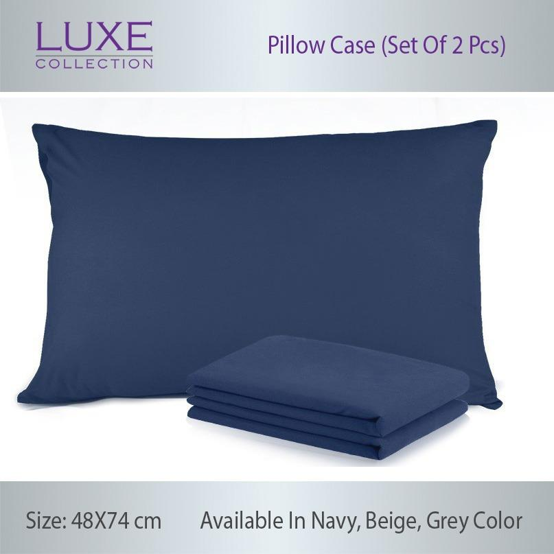 Buy Luxe Collection Pillow Case Set Of 2Pcs