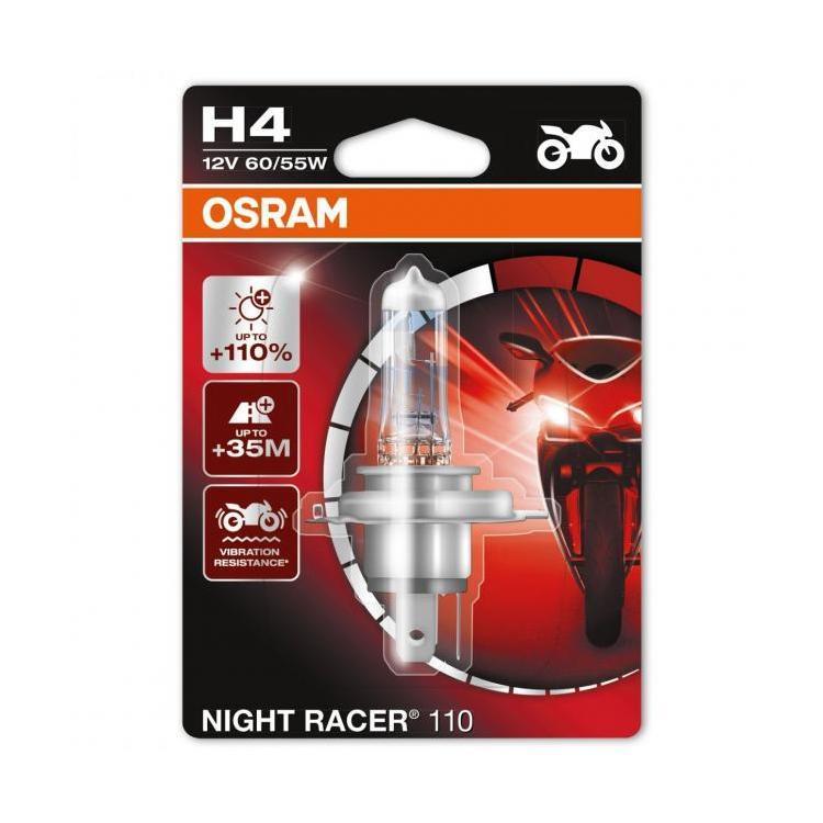 Discount H4 Osram Night Racer Headlight Bulb For Motorcycle Osram