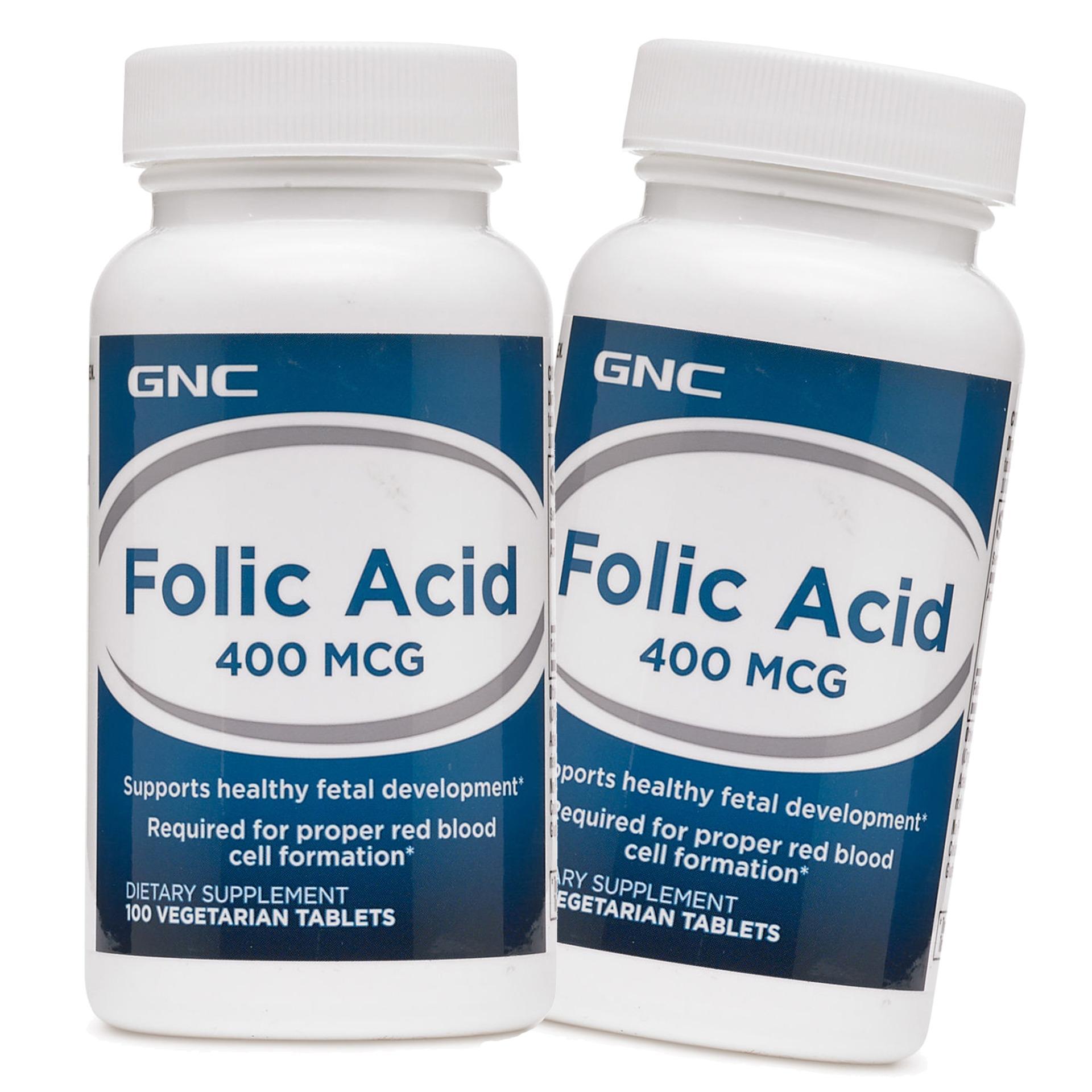 Gnc Folic Acid 400 Mcg 100 Tablets 2 Bottles Coupon Code