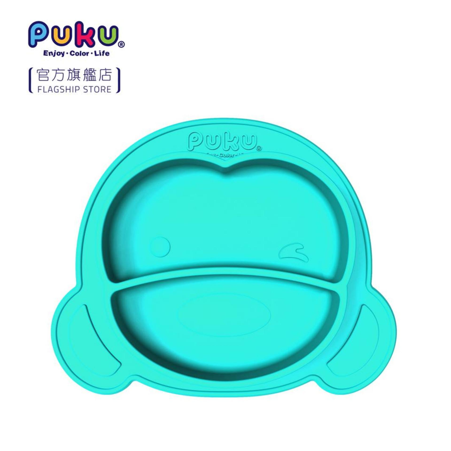 Puku Silicone Suction Plate (blue) By Puku Official Store.