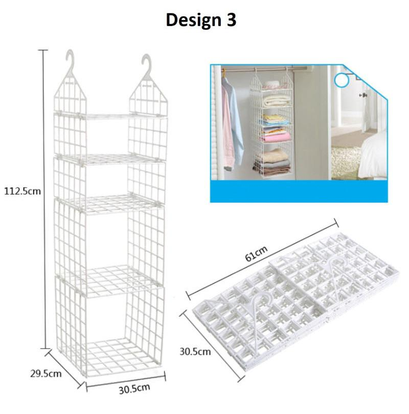Closet Hanging Shelf Closet Hanger Rack by ShopOnlineLah