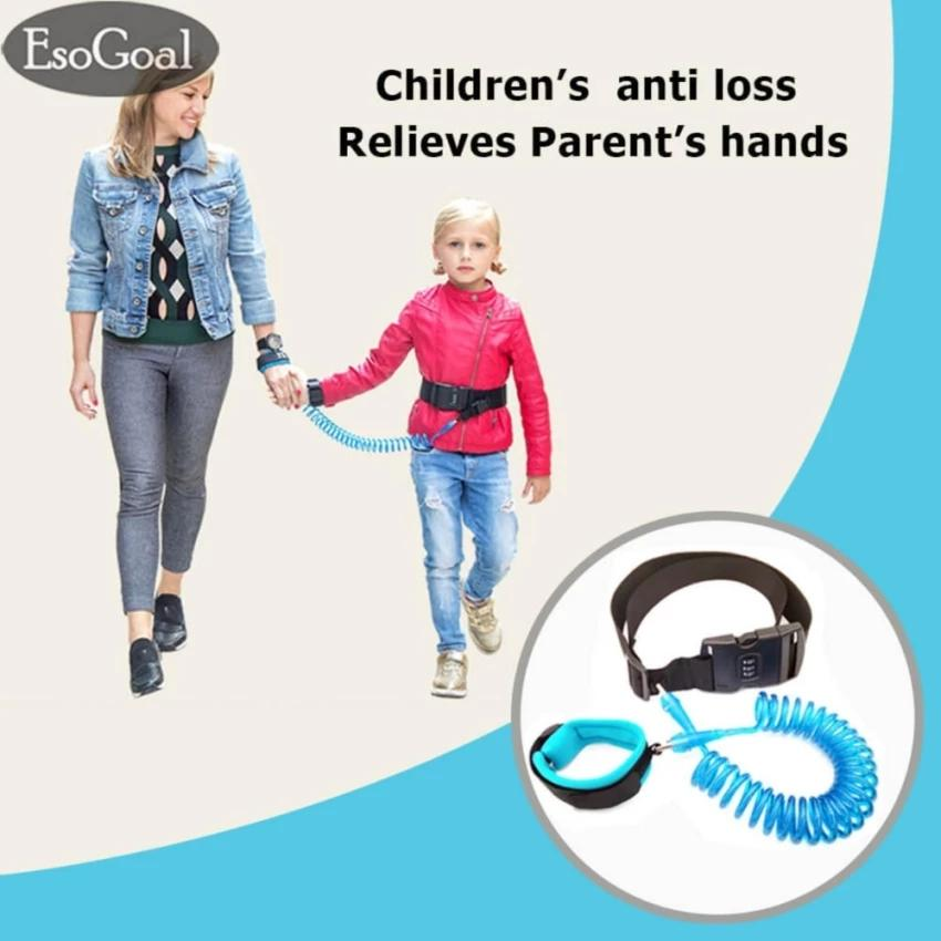 Jvgood Anti Lost Wrist Belt Link Safety Velcro Skin Friendly Cotton Wrist Straps For Toddlers, Babies & Kids (blue,1.5m) By Jvgood.