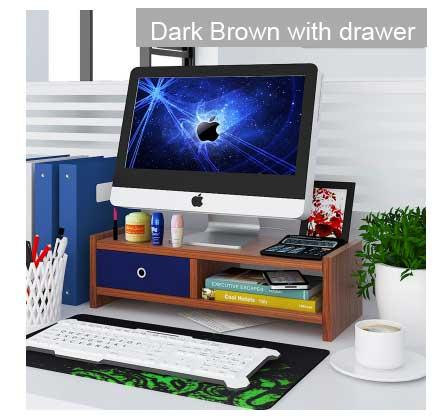2 Levels Wooden LCD/LED monitor Ergonomic Stand with drawer