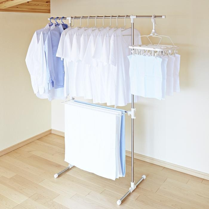 Home Improvement Bathroom Hardware Fold Collapsible Triangular Wall Mounted Clothes Storage Drying Rack With Hanging Rod For Heavy Duty Bathroom Balcony Laundry