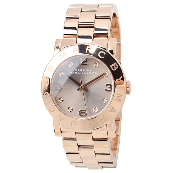 Marc By Marc Jacobs Amy Glitz Womens 36mm Rose Gold-Tone Watch Mbm3221 By Watch Centre.