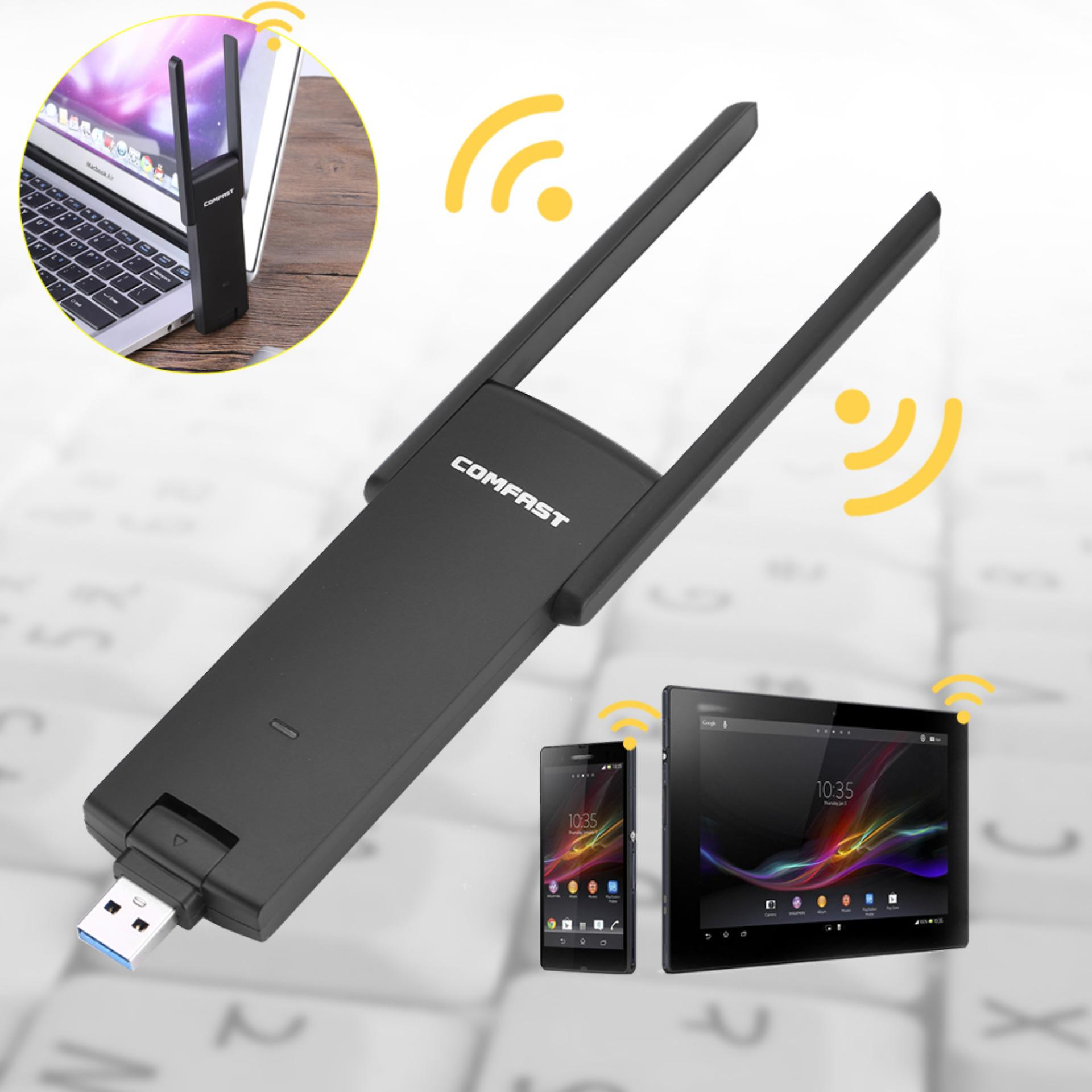 Comfast 2.4g+5ghz Dual Band Ac 1200m Wireless Signal Usb3.0 Wifi Speed Adapter Extender - Intl By 1buycart.