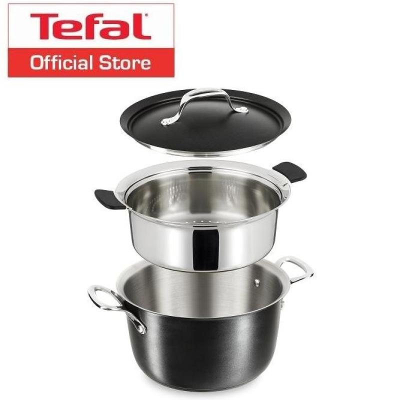 Tefal Experience Stainless Steel Stockpot + Steamer E75590 Singapore