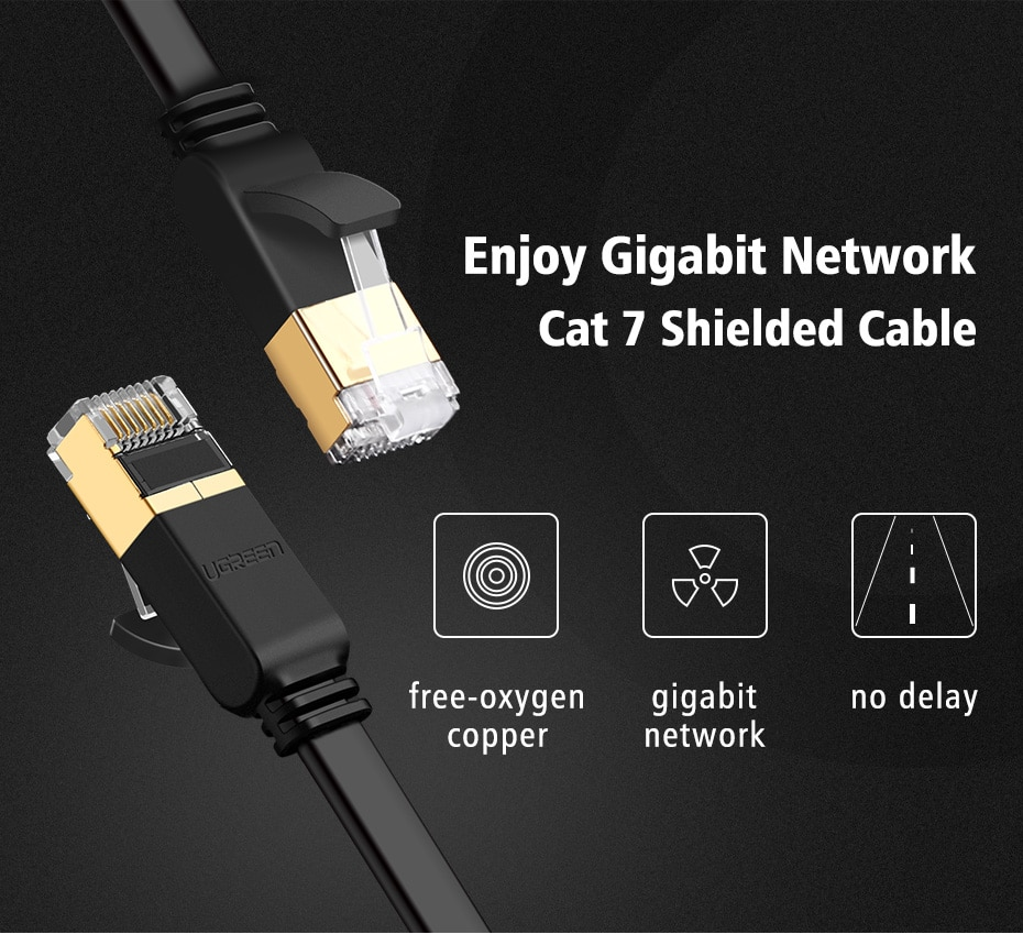 15M 10Gbps Ethernet Cable RJ45 Cat7 Cat6 LAN Cable UTP Network Cable for PC TV