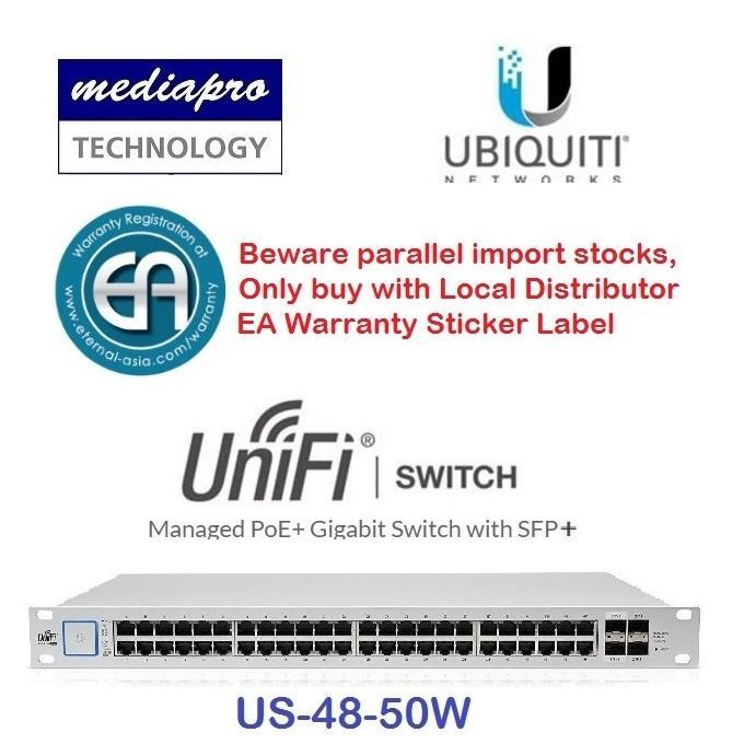 Ubiquiti US-48-500W UniFi Switch-48 500W Managed PoE+ Gigabit Switch with  SFP+