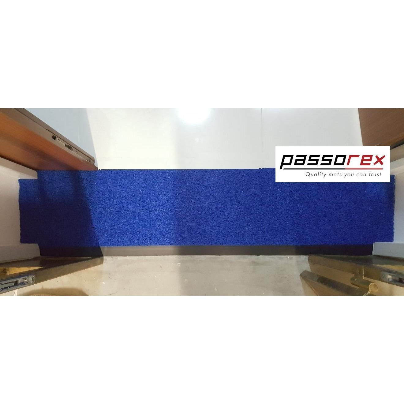 Passorex BTO HDB Door Gap Floor Mat | L120cm x 29cm @ L125cm x 27cm | Mat thickness T13mm+/- | Blue