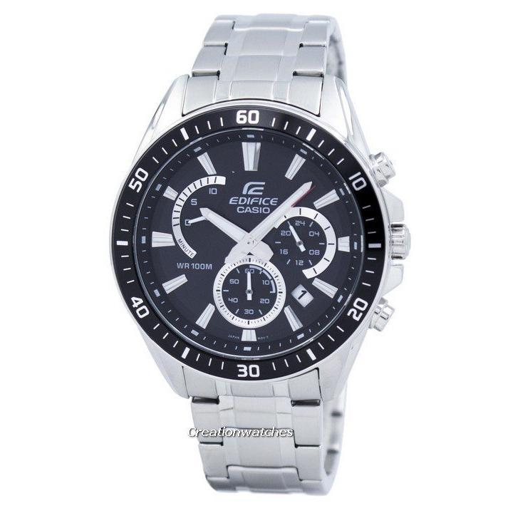 Sale Casio Edifice Chronograph Quartz Men S Silver Stainless Steel Bracelet Watch Efr 552D 1Av Casio Online