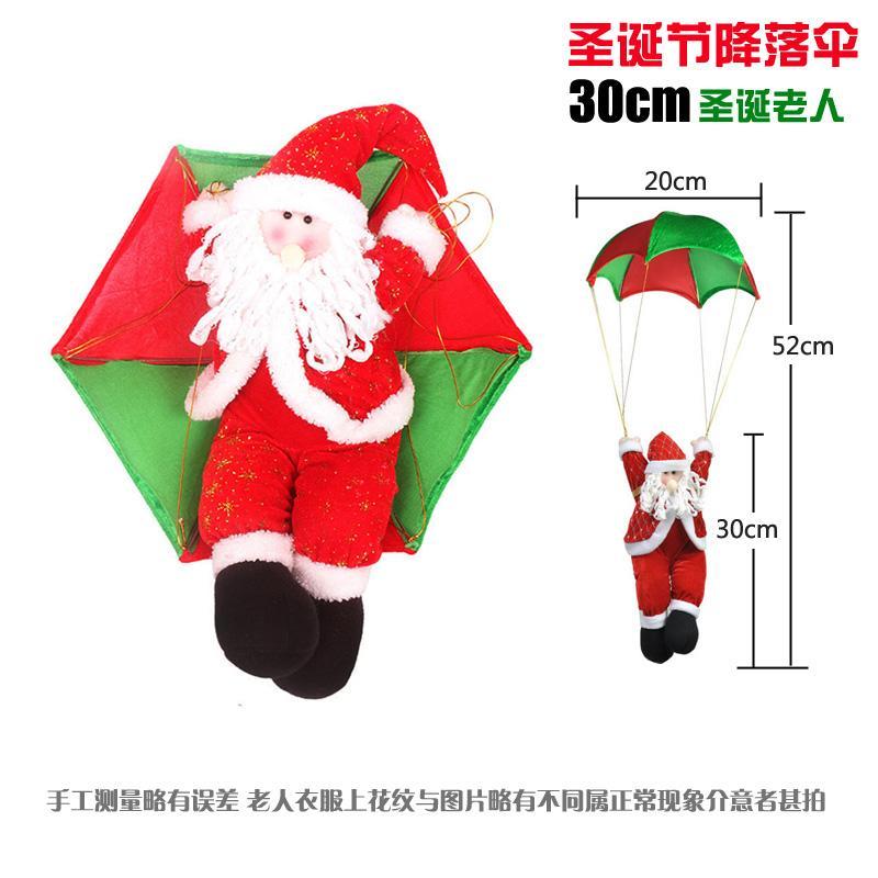 Christmas Decorations Hanging Parachute Old Man Santa Claus Ceiling Decoration Christmas Scene Decoration