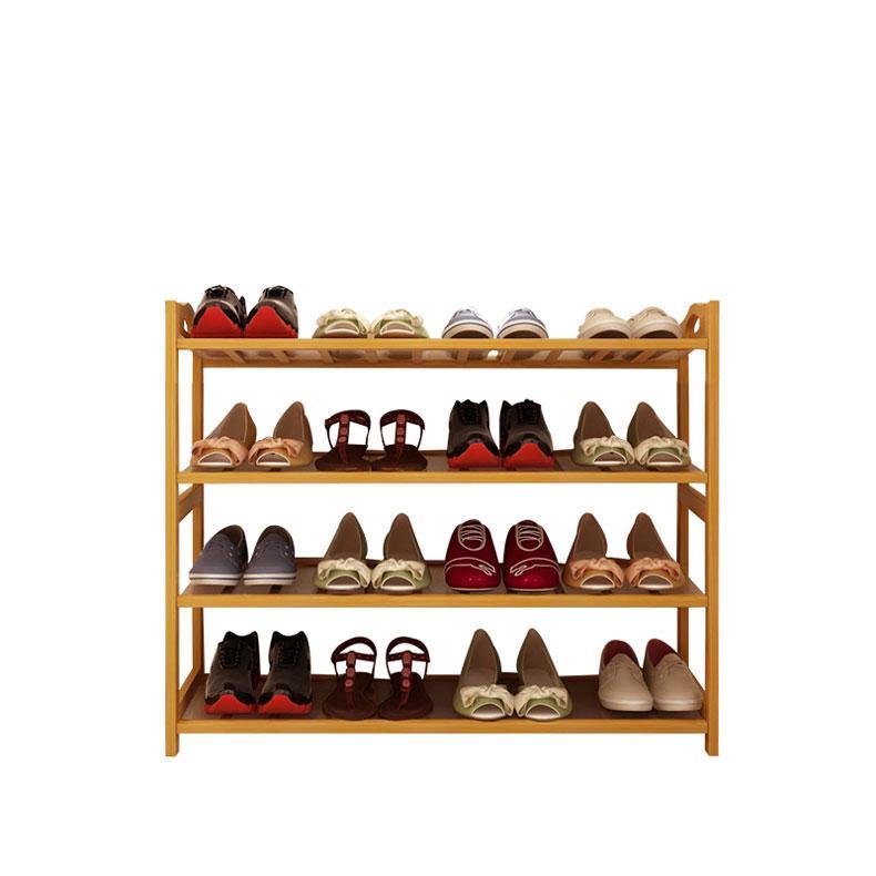 Norzy Bamboo Shoe Rack Slipper Organizer Shelf