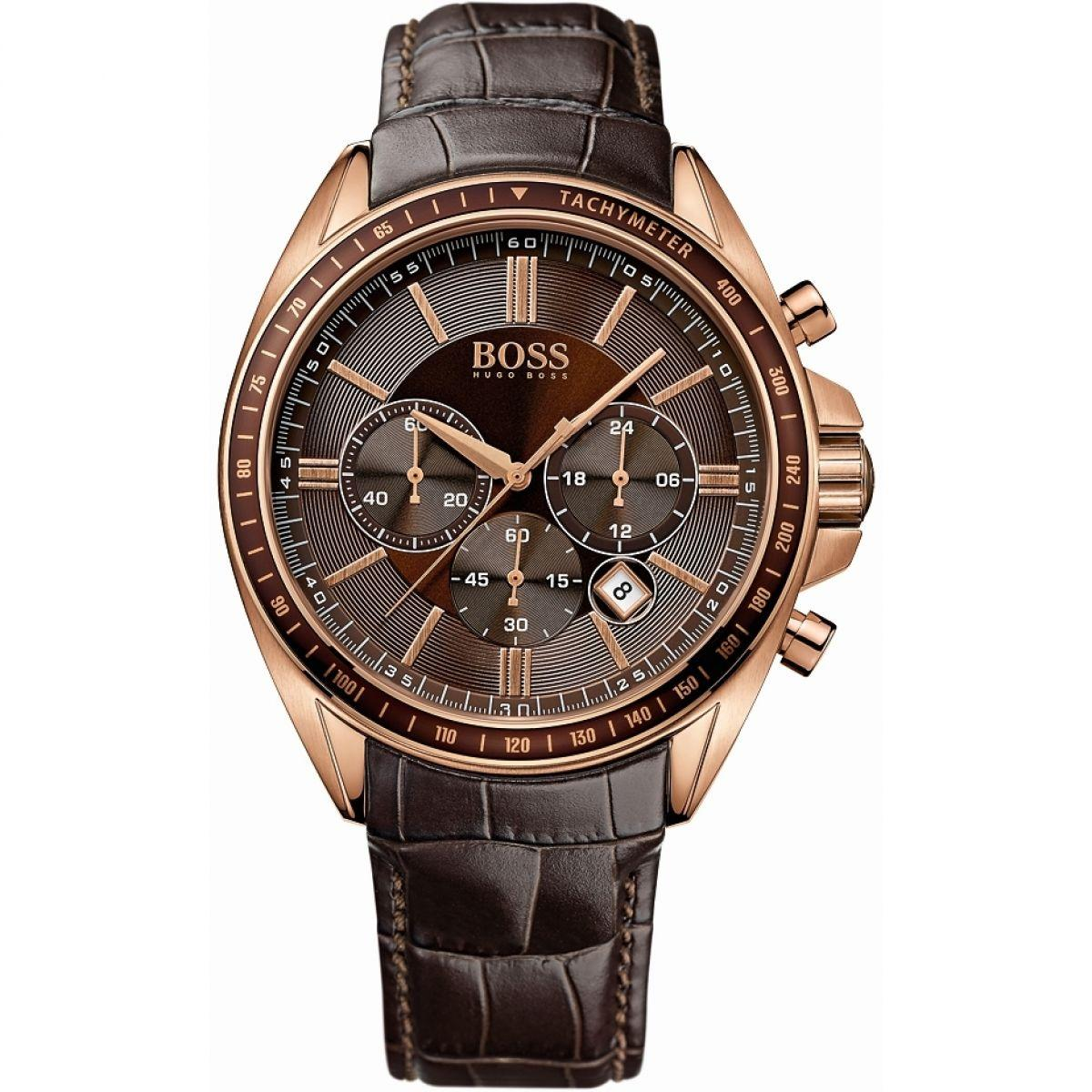 Hugo Boss Driver Chronograph Leather Mens Watch Hb1513093 By Le Montres.