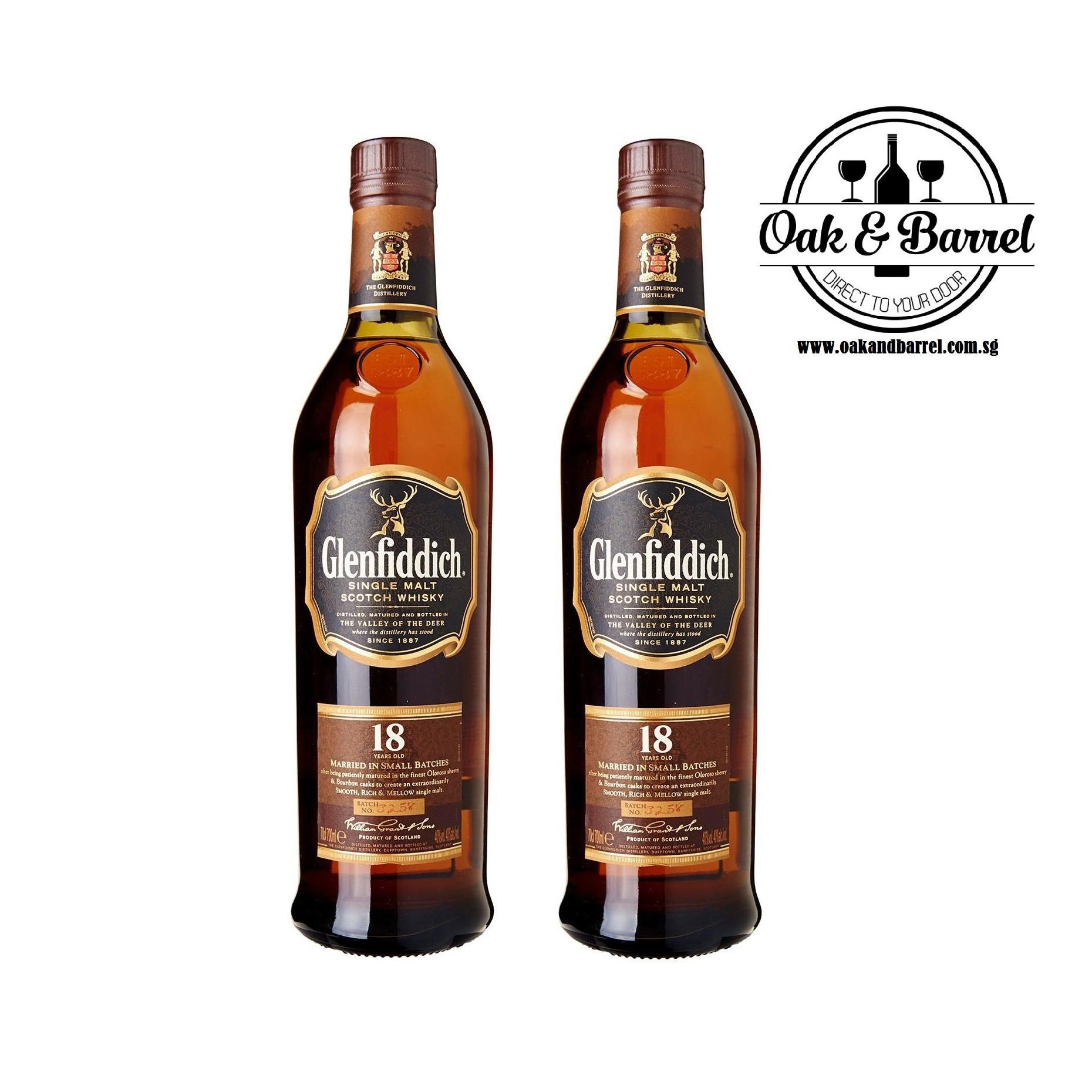 Great Deal Glenfiddich 18 Years Old 700Ml X2