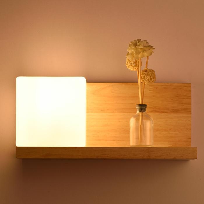 Wall Lamp Modern Led Wall Light Creative Hotel Engineering Wall Lamp Wood Bedroom Bedside Lamp - intl