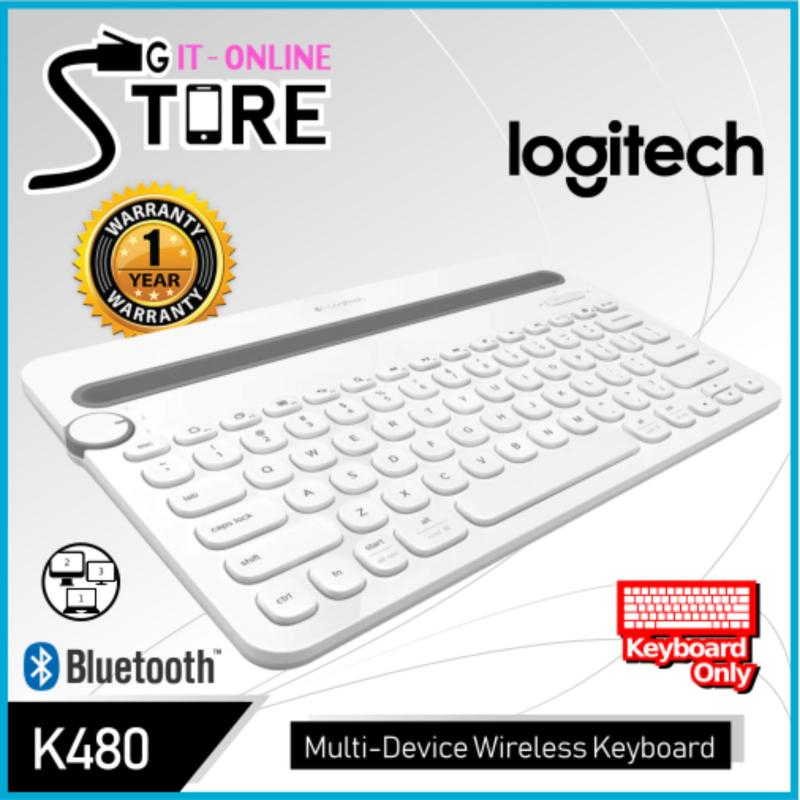 Logitech K480 Bluetooth Multi-Device Keyboard (Black/White) Singapore