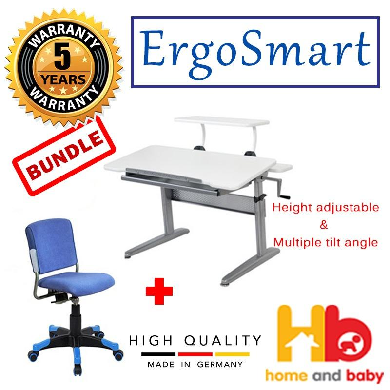 ERGOSMART Ergo Junior Plus Desk + Ergosmart Ergo Rico Chair Bundle Set